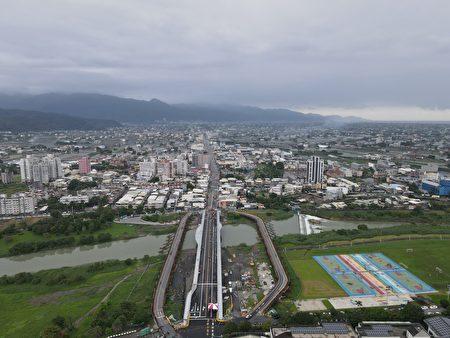 宜蘭橋改建工程鳥瞰圖
