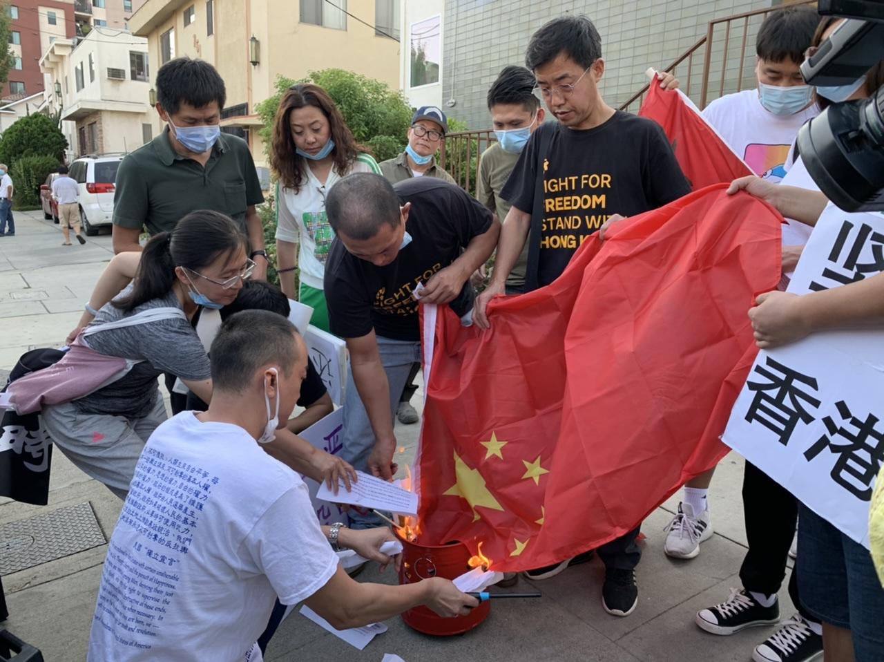 國殤日洛杉磯多地華人發起抗共活動