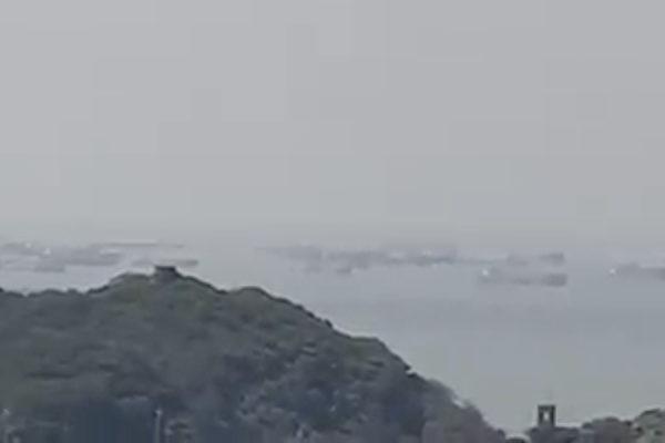 恐嚇?大陸抽砂船集結台灣外島 形同「包圍」