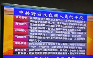 台军情局三退役官沦中共间谍 主嫌羁押禁见
