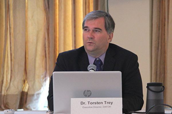 「醫生反對強制摘取器官組織」執行主任Torsten Trey(林樂予/大紀元)
