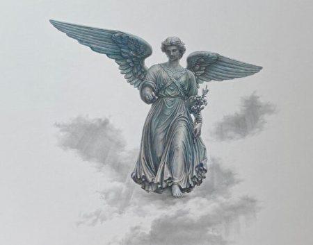 银针笔, Silverpoint, 安洁莉卡·多利巴, Anzhelika Doliba, 乌克兰