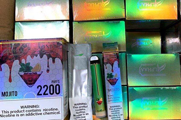 美海關查獲走私中國電子菸 市價172萬美元