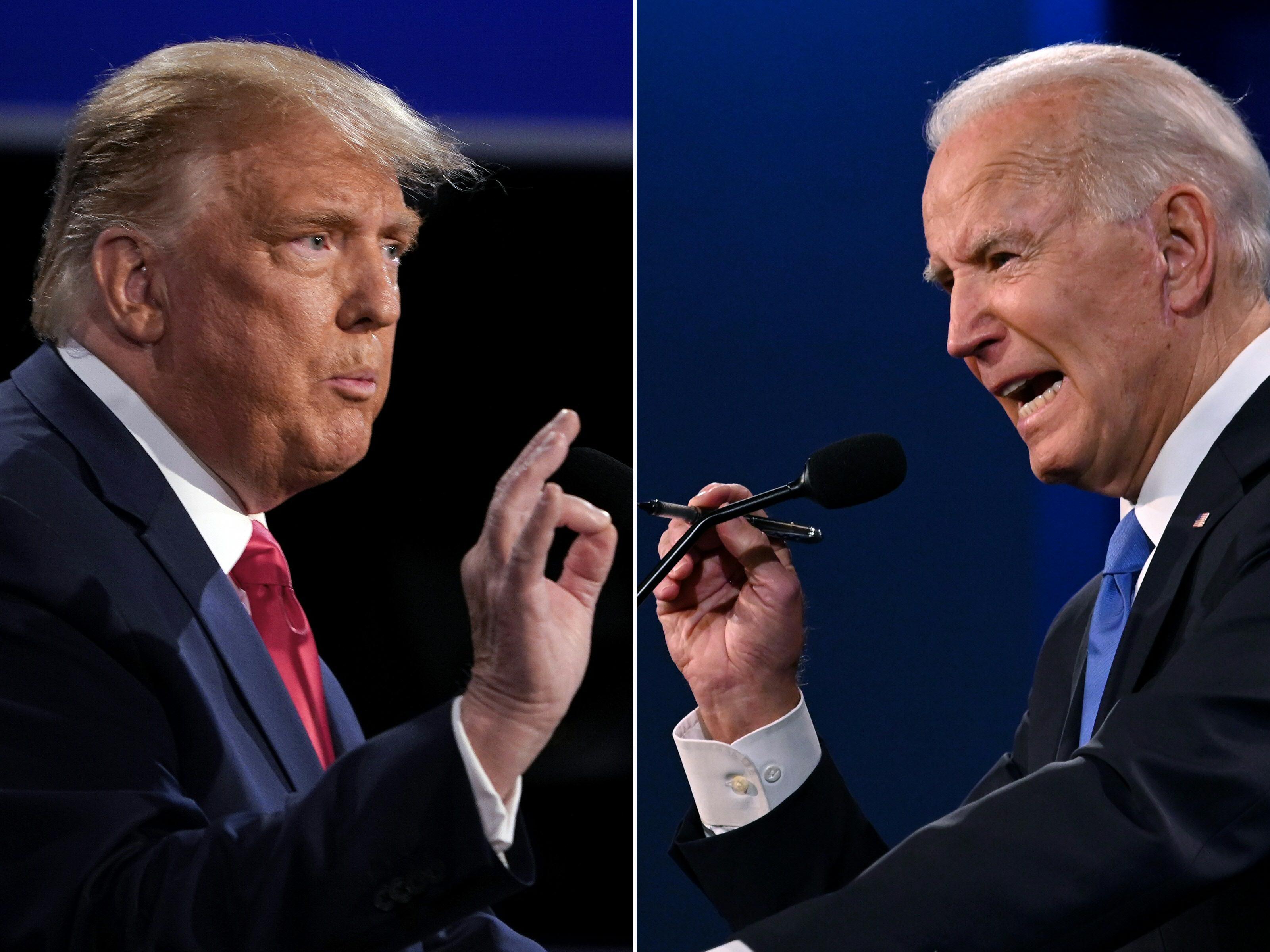 組圖:美國大選終場辯論 特朗普拜登激烈交鋒