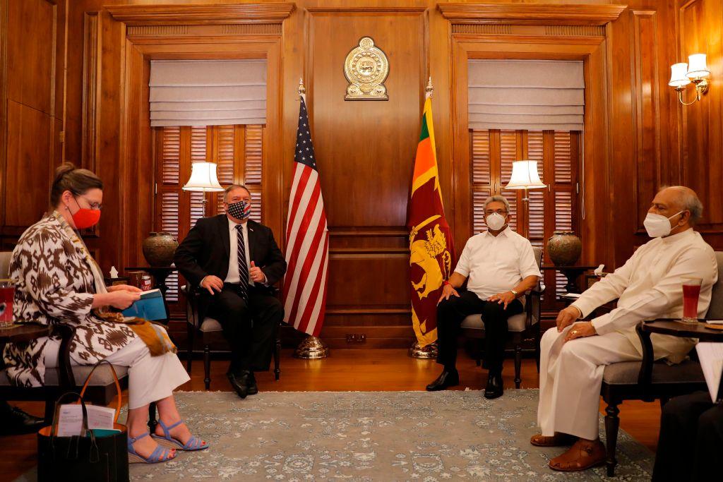 蓬佩奧訪問斯里蘭卡:中共是掠奪者