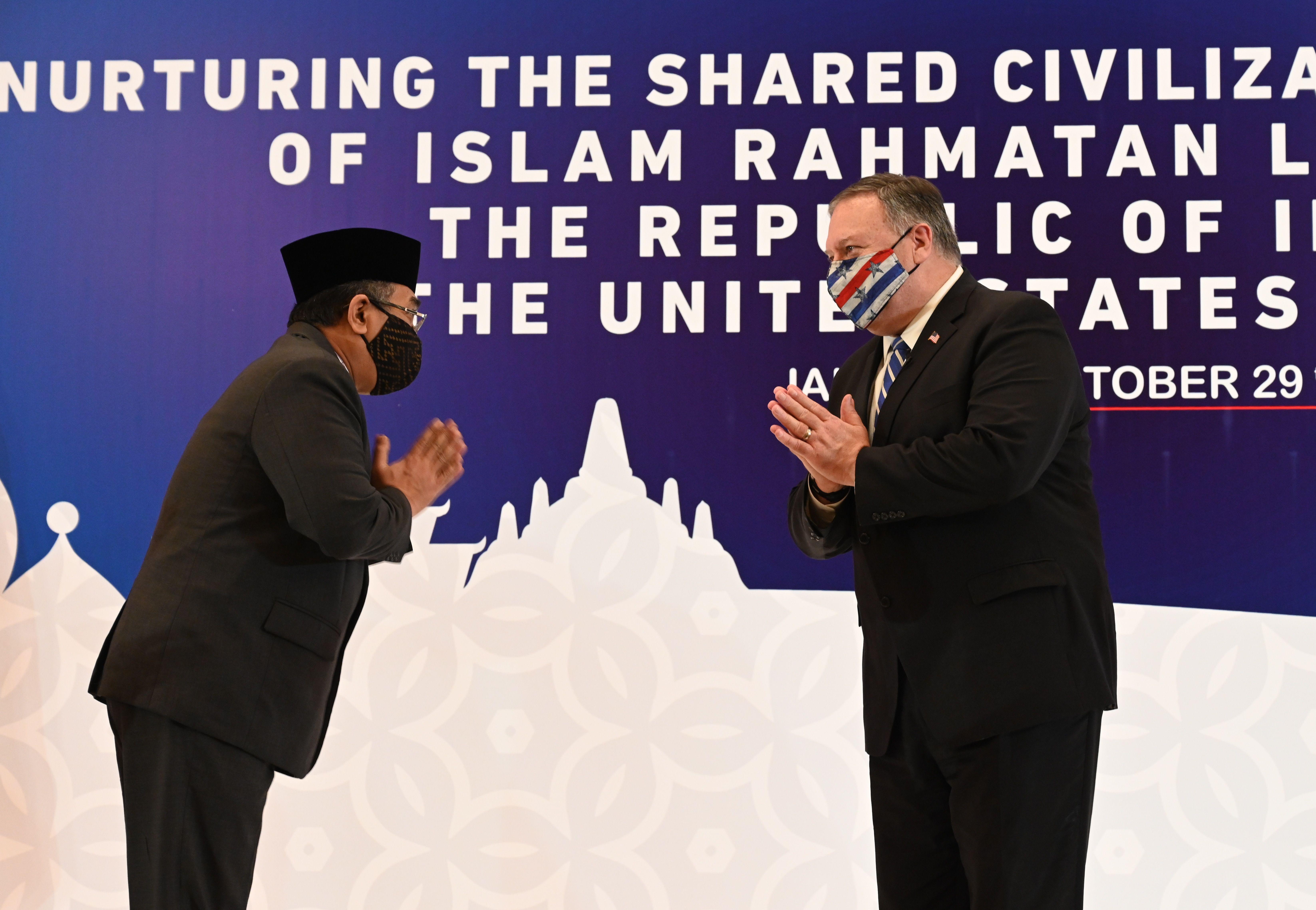 蓬佩奧訪印尼 猛烈抨擊中共擴張及迫害信仰