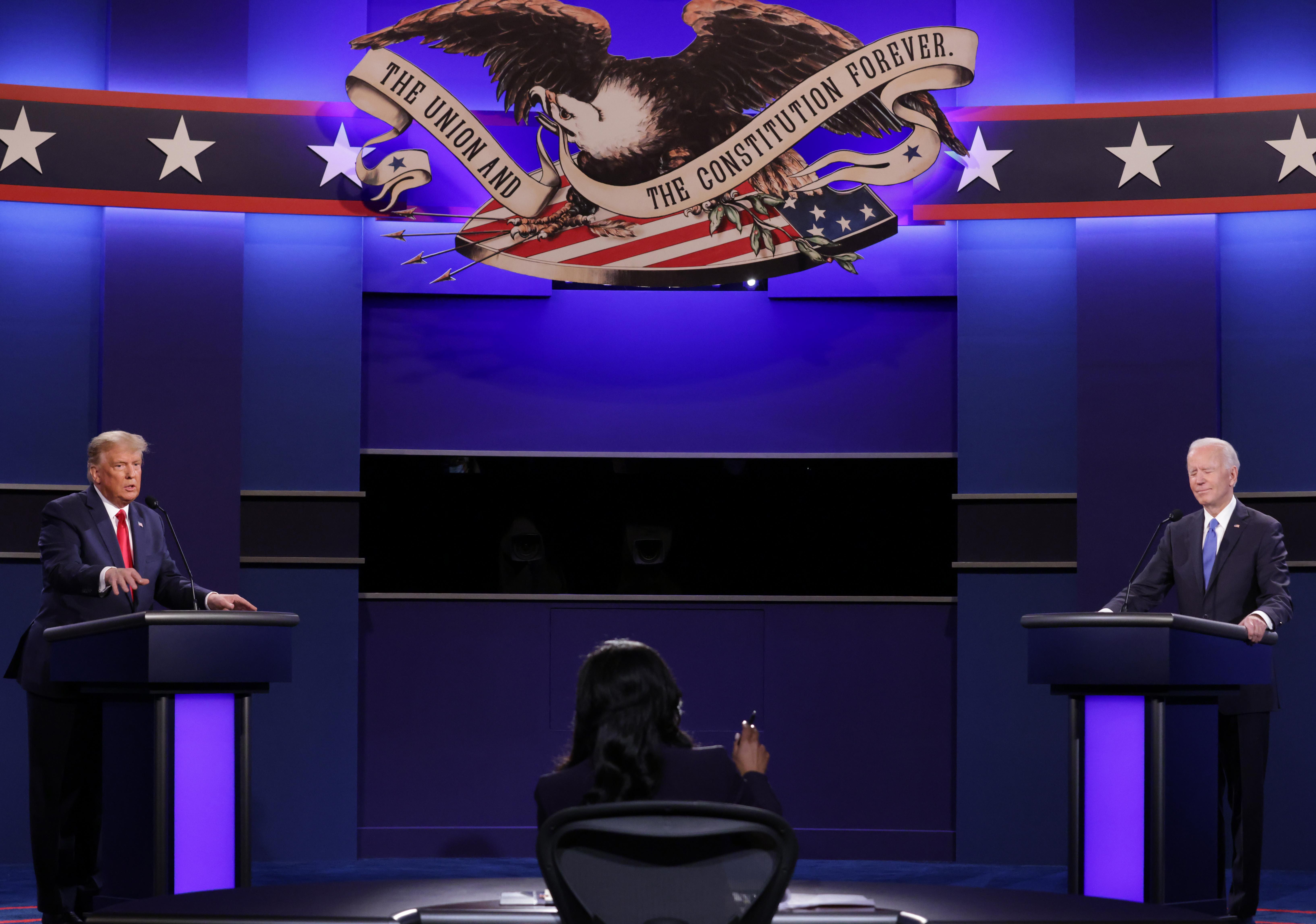 總統辯論 特朗普與拜登就亨特電腦門激辯
