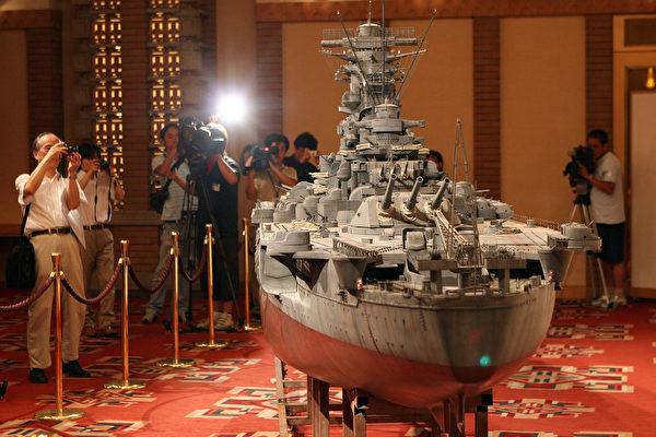 """细如发丝 日本推出纳米级""""大和号""""战舰模型"""