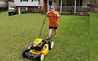 美国9岁男孩帮社区老人残疾人免费割草