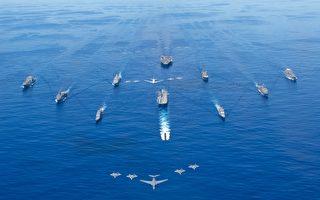 美里根号航母打击群返回南海 缩时短片释出