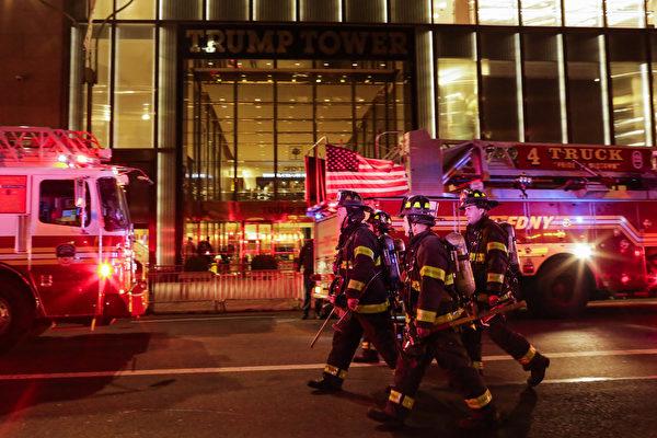 纽约市消防局50组员前往加州灭火