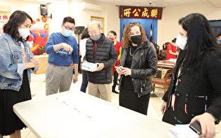 纽约市OATH局长偕州众议员访问华埠商家