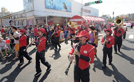 彰化縣國慶遊行吹奏隊伍。