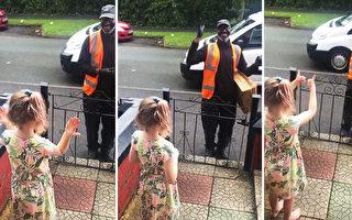 美國8歲女孩送溫暖 啞語祝福聾啞送貨司機