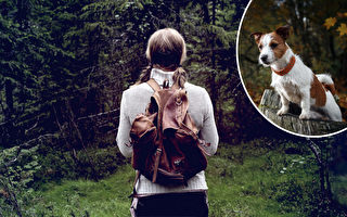美国女子迷失树林中48小时 被搜救犬找到