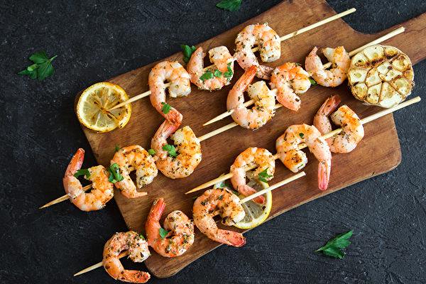 蝦子, 冷凍蝦, 沙拉, 麵包, 漢堡, 米飯, 腰果, 串烤蝦子