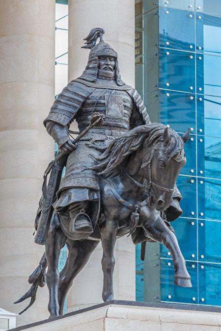 蒙古乌兰巴托市的木华黎雕像。