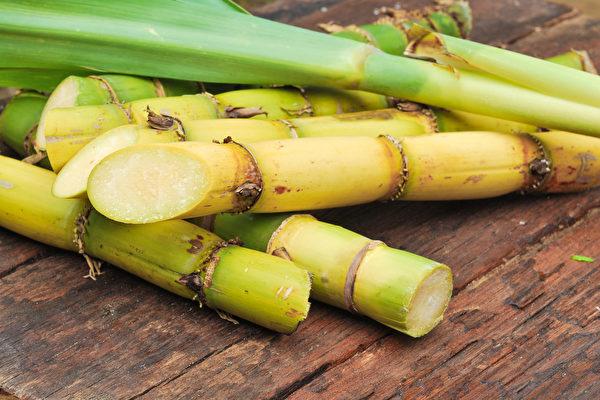 甘蔗性味甘平,非常適於病後體虛、胃腸虛弱者。(Shutterstock)
