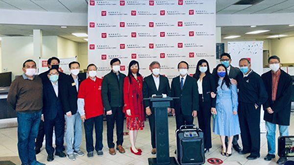 华埠中心为蒙市上百居民免费注射流感疫苗