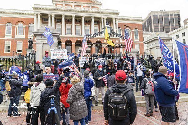 麻州民眾挺川遊行 呼籲公正選舉