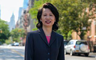 參選紐約華埠市議員  劉林劍虹獲維樂貴絲、梅隆尼背書