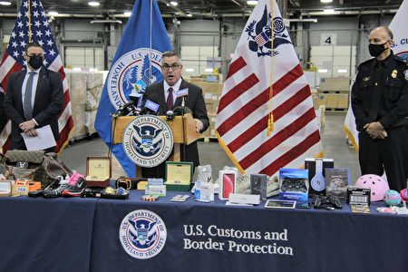 CBP纽约JFK机场分局代理局长萨尔・格莱西亚表示,购买仿冒品损害美国经济,使美国人失去了工作,威胁自己的健康和安全,还资助了相关犯罪活动。