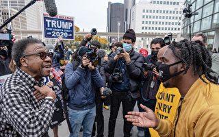 组图:美国选情胶着 两阵营支持者街头抗议