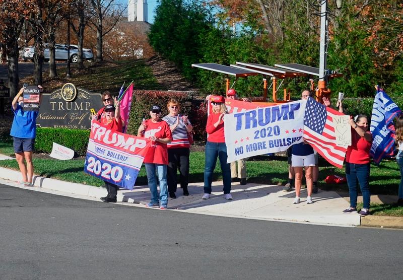 組圖:維珍尼亞選民抗議竊取選舉 支持特朗普