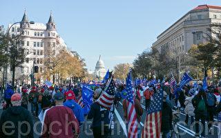组图:停止窃选 美首都华盛顿大型游行集会