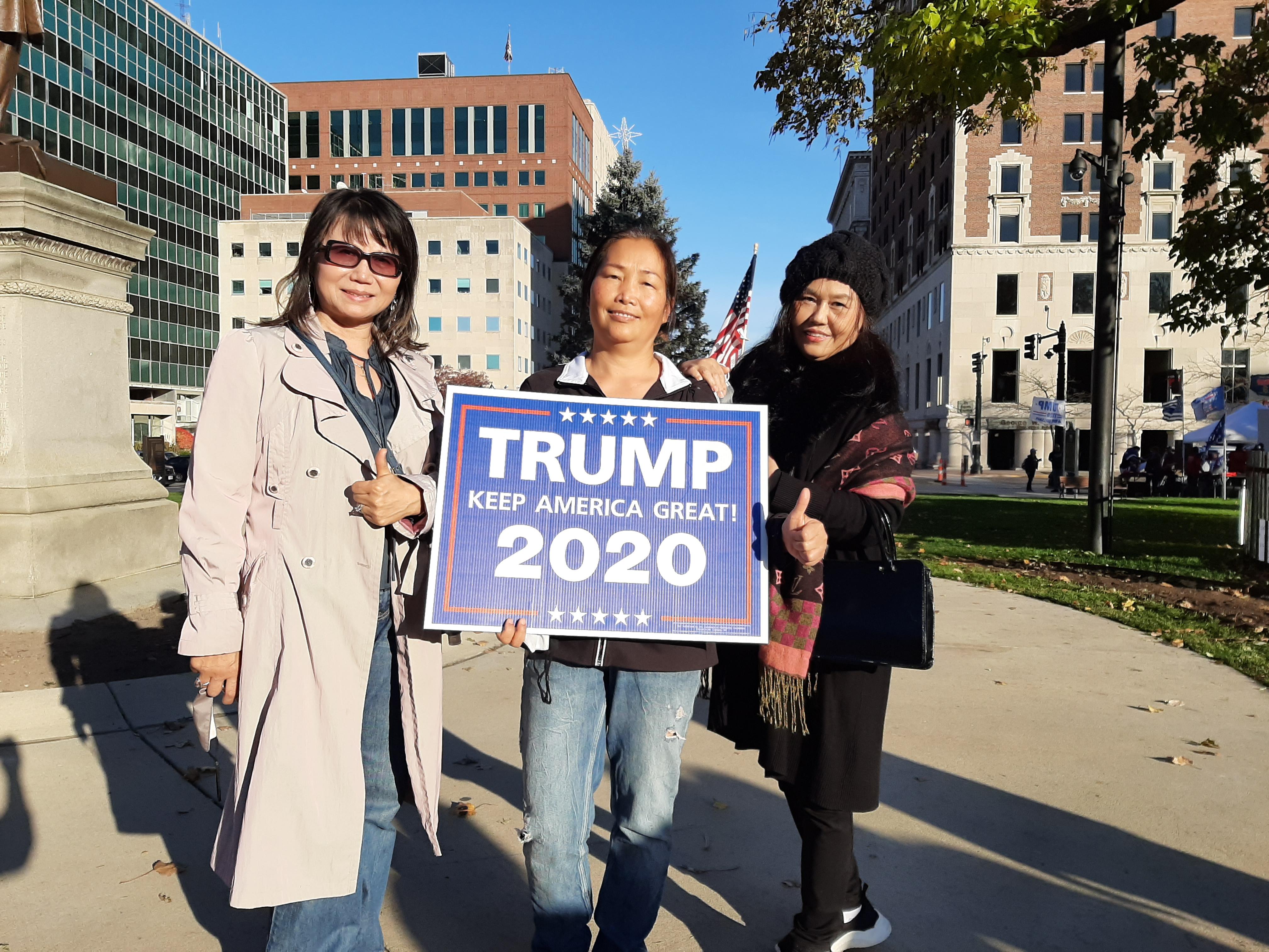 密歇根華人支持特朗普「要站在正義一方」