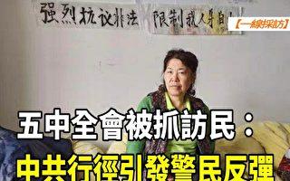 【一線採訪視頻版】訪民五中全會被抓:中共行徑引警民反彈