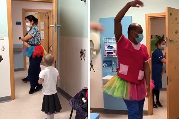 給5歲患癌童驚喜 兩醫生在病房裡跳起芭蕾