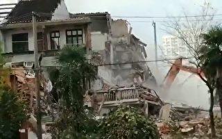 無錫村民房屋被偷拆 一家十口人流落街上