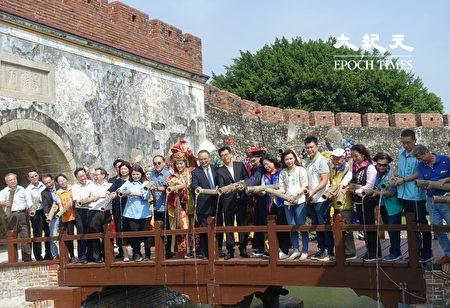 左營舊城護城河11月2日舉行通水典禮。