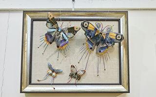 蔡尔平独创技法 打造五彩蝴蝶