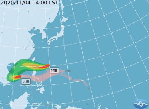 闪电台风周五最接近台湾 明起将回暖