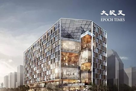 臺北市新南門市場大樓模擬圖。