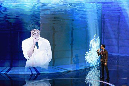 盧廣仲以連線方式表演與獲獎。