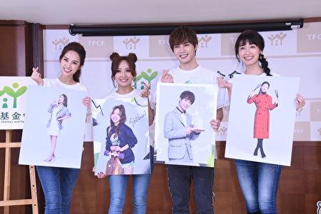 圖左起為三立主播張齡予、古曜威、愛紗、田中千繪。