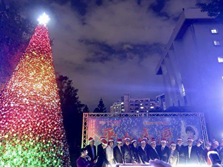 十米高的紅寶石聖誕樹點亮北科大!