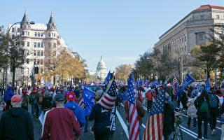 组图:50万人美国首都大游行 挺川普