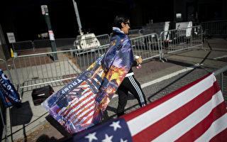 组图:川普支持者在宾州费城抗议选举不公