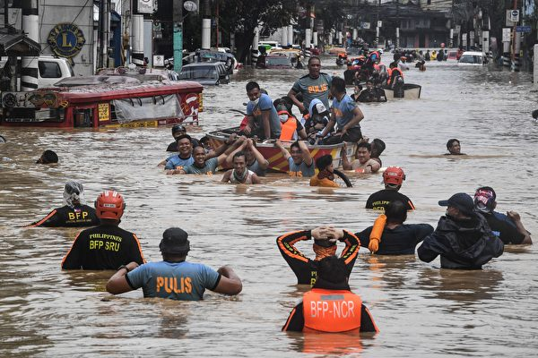 組圖:颱風環高侵襲菲律賓 已造成39人死亡