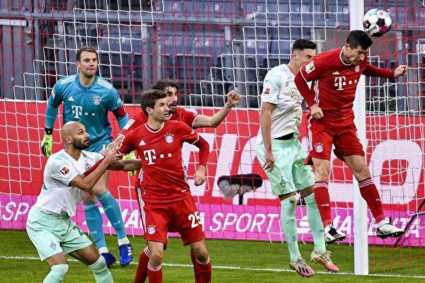 德甲第8輪:拜仁主場10連勝被不萊梅終結