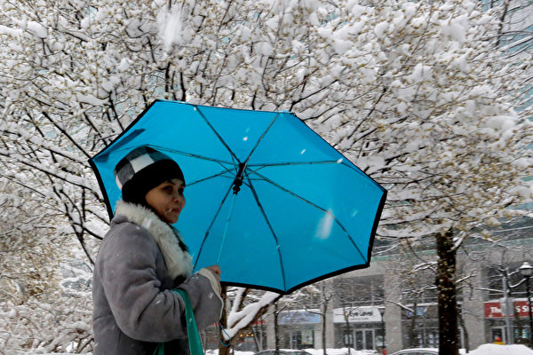 新泽西北部地区降下第一场雪