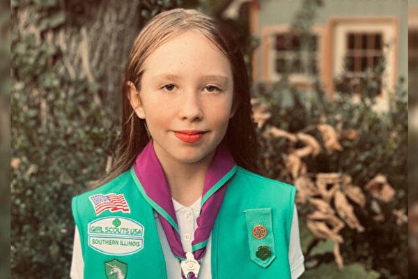 美国一女童军挽救他人生命 获荣誉勋章