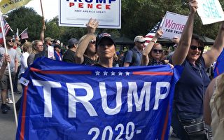 呼籲選舉公正 德州民眾奧斯汀舉辦挺川大遊行