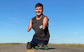 加拿大無四肢男子創奇蹟 十次「跑」馬拉松