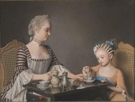 利奥塔爾, 粉彩畫, 《拉維尼家早餐》, 早餐, 美術館