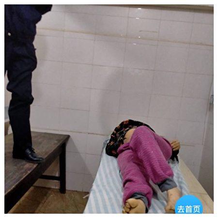 王學英的遺體在醫院太平間被政府人員偷走。(微博截圖)